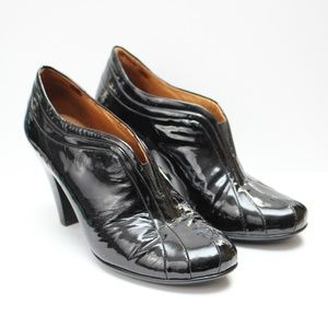 Sofft Black Patent Leather High Heel Shoe Booties